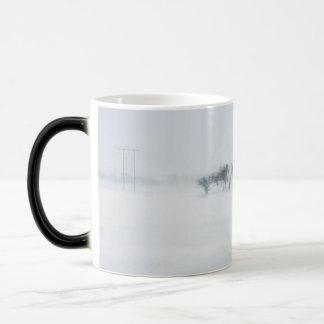 Winter storm landscape magic mug