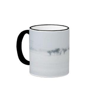 Winter storm landscape ringer mug