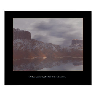 Winter Storm on Lake Powell Poster