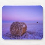 Winter Straw Bales near Cartwright North Mouse Pad