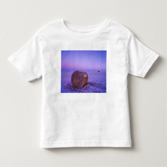 Winter Straw Bales near Cartwright North Toddler T-shirt