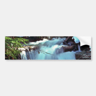 Winter Stream Waterfall Car Bumper Sticker