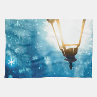 Winter Street Lamp 2 Hand Towel