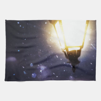 Winter Street Lamp Hand Towel