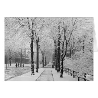 Winter Street Scene, 1910 Card