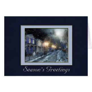 Winter Street Scene Holiday Greeting Card