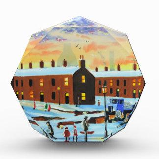 Winter street scene painting award