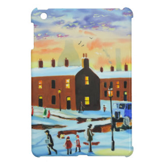 Winter street scene painting cover for the iPad mini