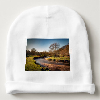 Winter Stroll Along The River Bollin Baby Beanie