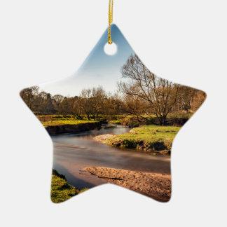 Winter Stroll Along The River Bollin Ceramic Ornament