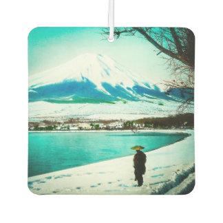 Winter Stroll Beneath Mt. Fuji 富士山 Vintage Japan Air Freshener