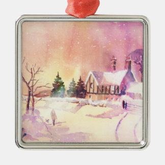 Winter Stroll Metal Ornament