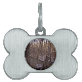 Winter Sugar Creek (from higher up) Pet Name Tag