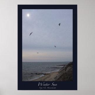 Winter Sun, Cape Cod, Massachusetts Poster