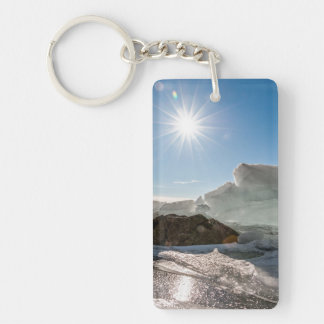 Winter sun keychain