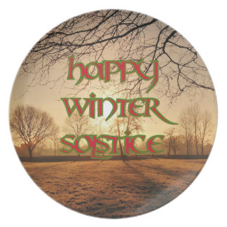Winter Sun Melamine Plate for Winter Solstice