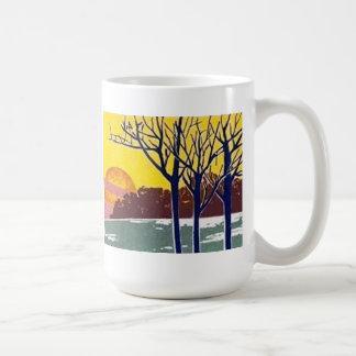 Winter Sun Vintage Art Mug