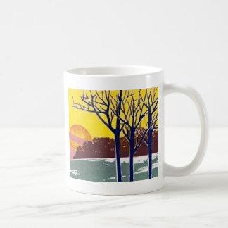 Winter Sun Vintage Art Mugs