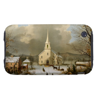 Winter Sunday in olden times Tough iPhone 3 Cases