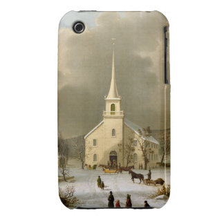 Winter Sunday in olden times Case-Mate iPhone 3 Case