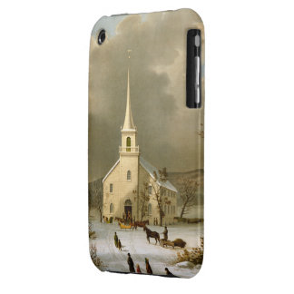 Winter Sunday in olden times iPhone 3 Covers