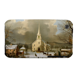 Winter Sunday in olden times iPhone 3 Cover