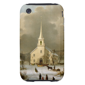 Winter Sunday in olden times iPhone 3 Tough Case