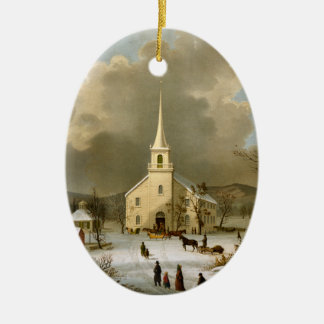 Winter Sunday in olden times Ornament