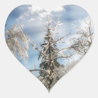 Winter sunlight heart sticker