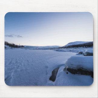 Winter Sunrise at Lake Tornetrask Mousepad