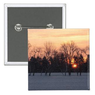 Winter Sunrise Button