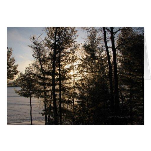 Winter Sunrise Greeting Card