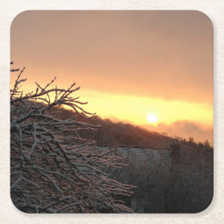 Winter Sunrise Coasters