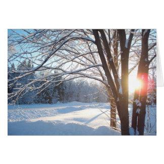 WINTER SUNRISE Customizable Design Greeting Card