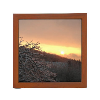 Winter Sunrise Desk Organizer