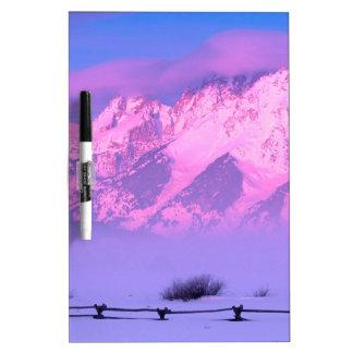 Winter Sunrise Grand Teton Wyoming Dry-Erase Whiteboard