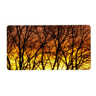 Winter Sunrise Label