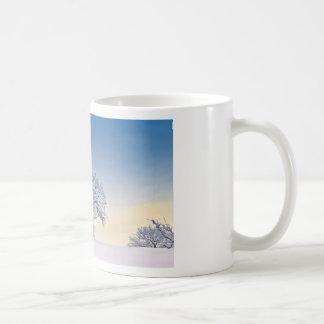 Winter sunrise classic white coffee mug