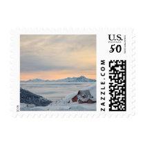 Winter Sunrise over the Mountains of Alaska Postage
