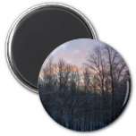 Winter Sunrise Pastel Nature Landscape Photography 2 Inch Round Magnet