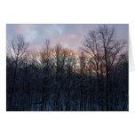 Winter Sunrise Pastel Nature Landscape Photography Card