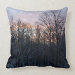 Winter Sunrise Pastel Nature Landscape Photography Throw Pillow