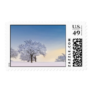 Winter sunrise postage stamps