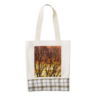 Winter Sunrise Zazzle HEART Tote Bag