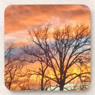 Winter Sunset 1 coasters
