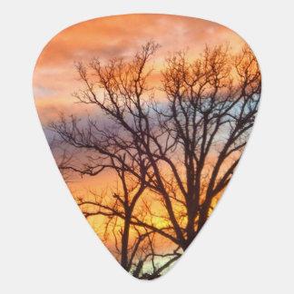 Winter Sunset 1 Guitar Pick