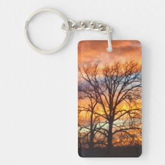 Winter Sunset 1 Keychain