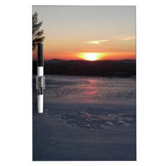 Winter Sunset 2 Dry Erase Board