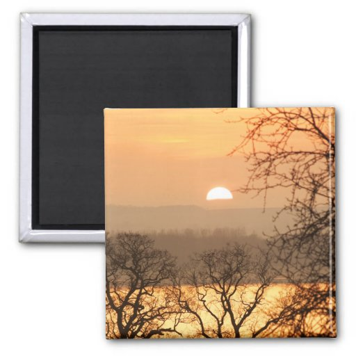 Winter Sunset 5 Fridge Magnet