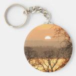 Winter Sunset 5 Keychains